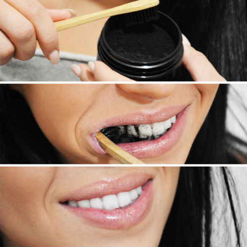 how to apply charcoal teeth products